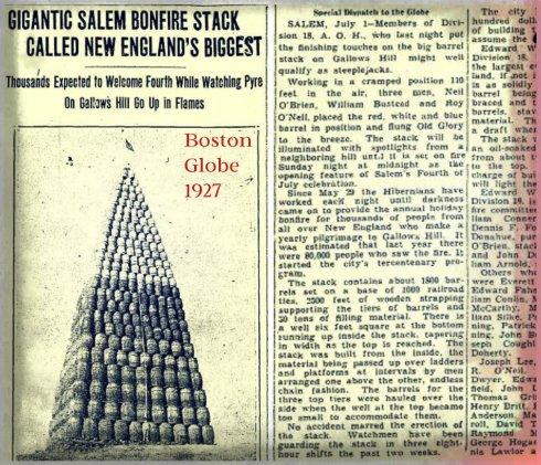 Bonfire 1927 collage