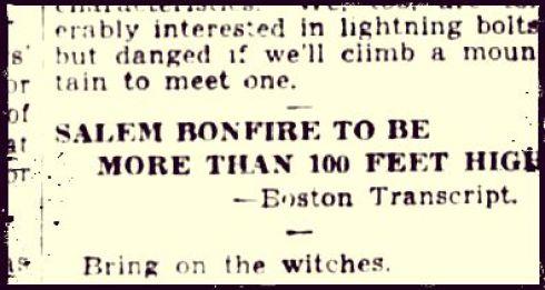 Bonfire 1928 Text Box