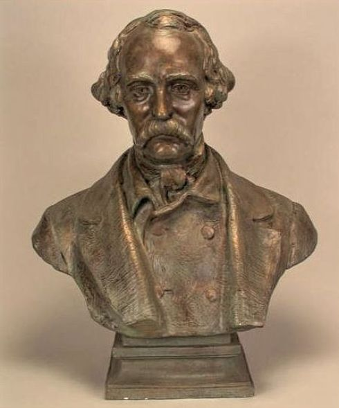 Bust of Hawthorne NYPL