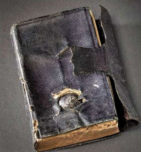 Bullet-ridden bible Merrill Phillips