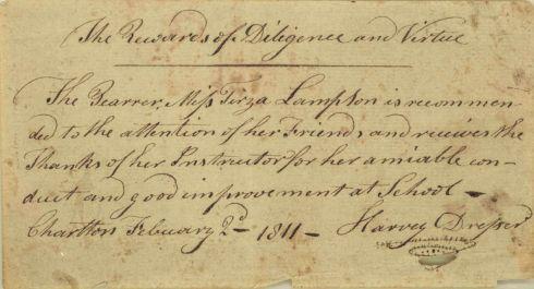 Reward of Merit 1811 Charlton