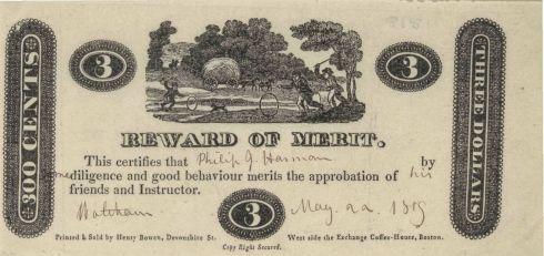 Reward of Merit ABA3 1815