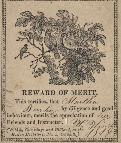 Reward of Merit ABA4 1819