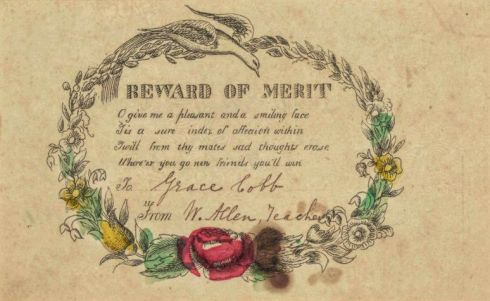 Reward of Merit East Bridgewater 1851