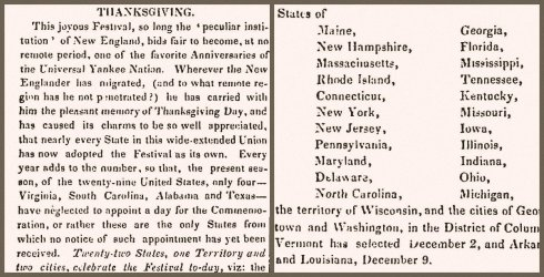 Thanksgiving 1847 collage