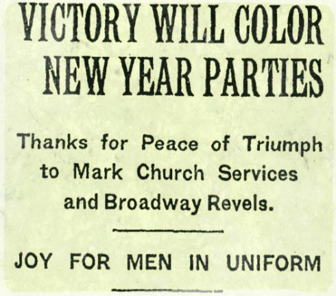 Victory New Year 1919 NYT