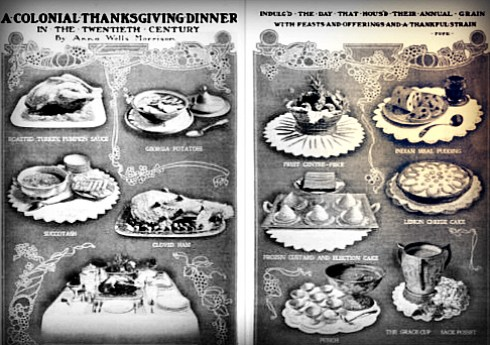 COlonial Thanksgiving Delineator 1902