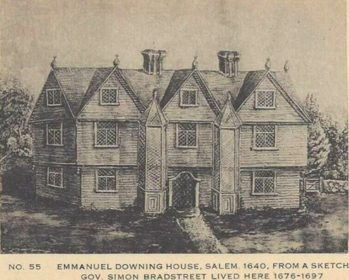 Salem Prints Downing HOUSE PC Essex Institute