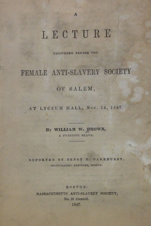 Female Anti-Slavery Society 1847