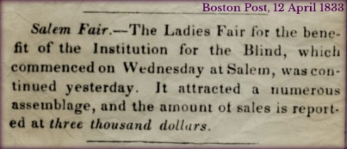 Ladies Fair Boston Post April 12 1833