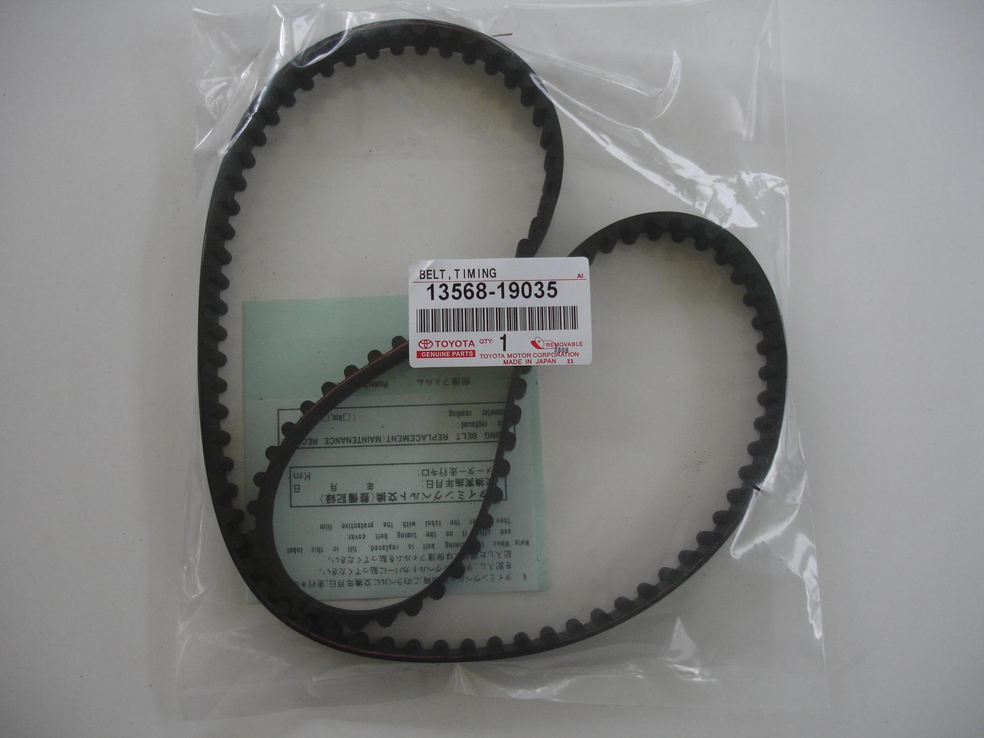 hight resolution of toyota oem 4a ge timing belt 13568 19035 silvertop 92 95 20 valve