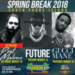 @PostMalone, @1Future, & @Gucci1017 are taking over Texas for Spring Break.. @southpadretex @bigneechi