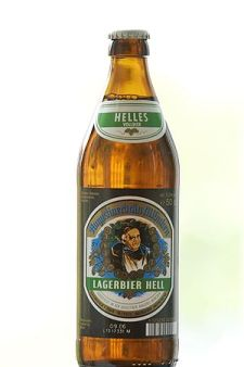"Augustiner Hell in the ""classic"" bottle"