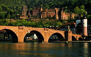 Heidelberg Castel and Bridge, Germany.
