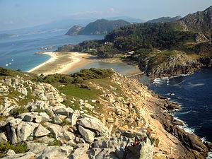 Español: Fotografia de las islas cies (Ría de ...