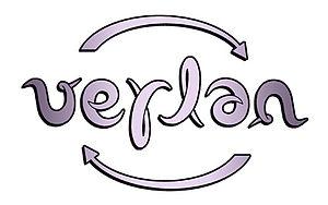 Français : ambigramme pivotant Verlan (auteur ...