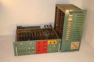 English: Early 1970's transistor vocoder custo...