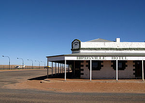 Birdsville Hotel on Christmas morning, Birdsvi...