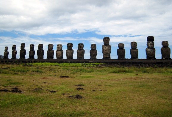 Errected Moai on Easter Island-Street Talk Savvy