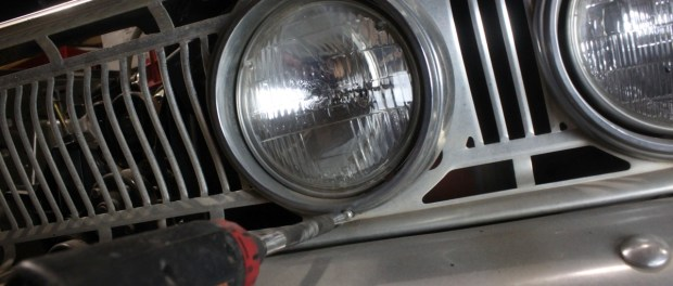 The lamps install just like any other headlamp, the outer ring gets removed first.
