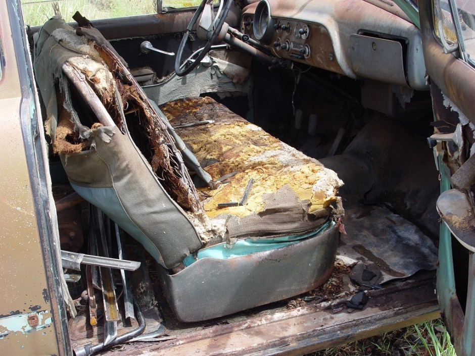1. The car was in sad shape when I arrived to pick it up. 30 years of barn life will do that to a car.