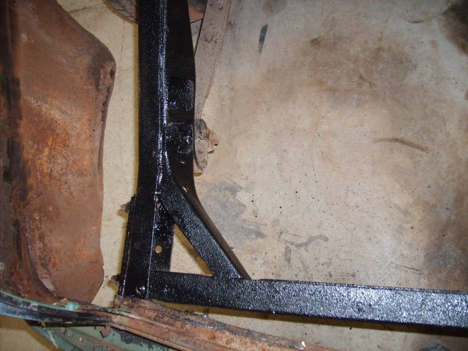 11. The frame was painted with some Eastwood Rust Encapsulator, which will keep it from rusting in the future.