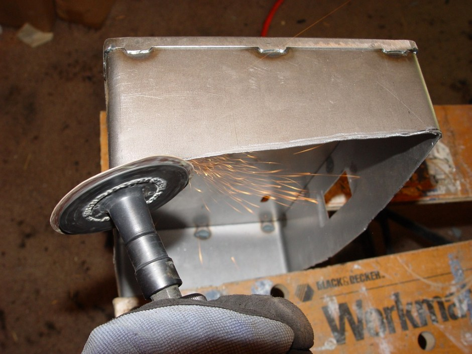 14. A Roloc sanding pad was used to even up the edge and keep it clean.