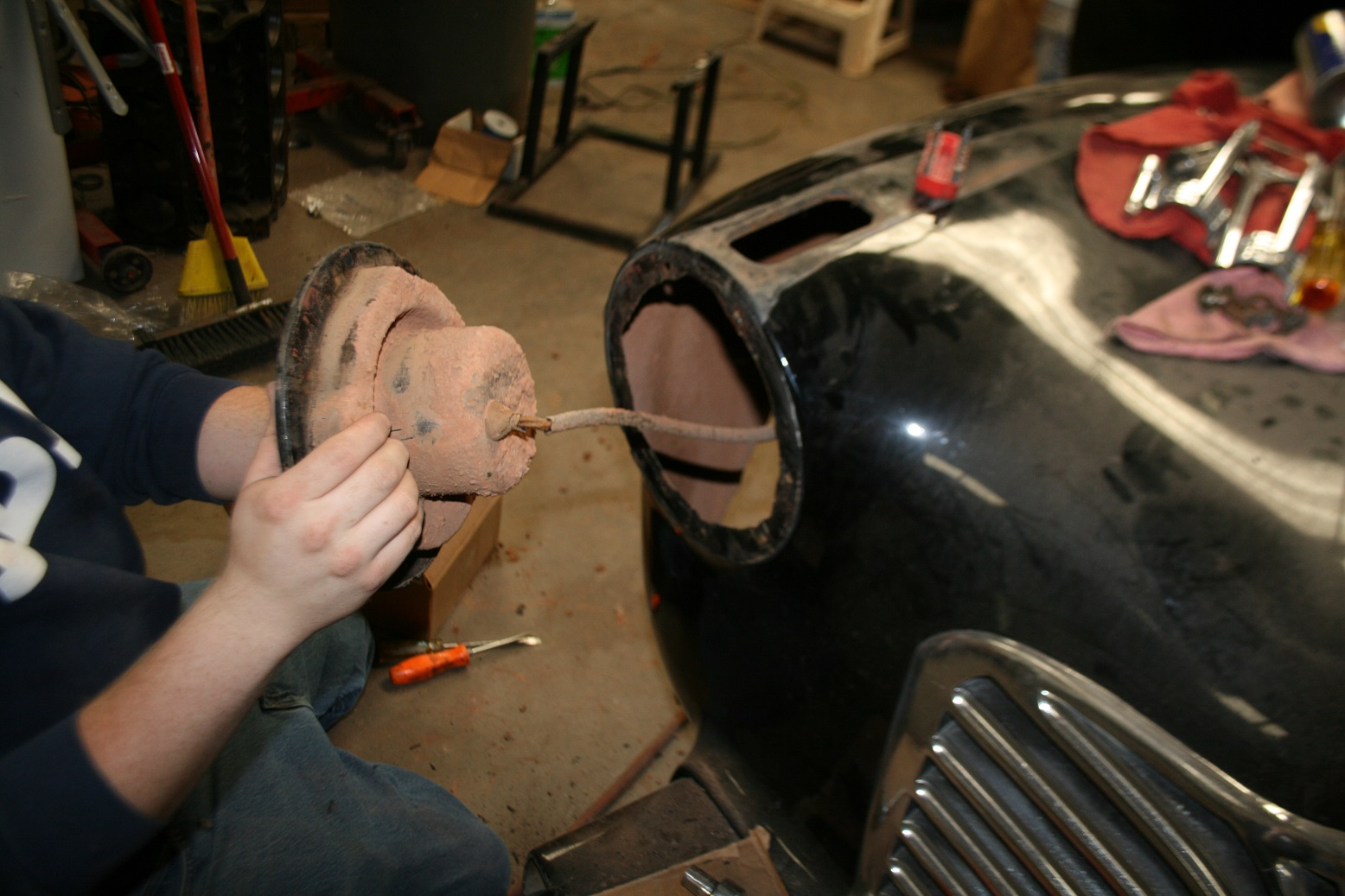 hight resolution of the project started at the front of the vehicle by removing the headlight buckets