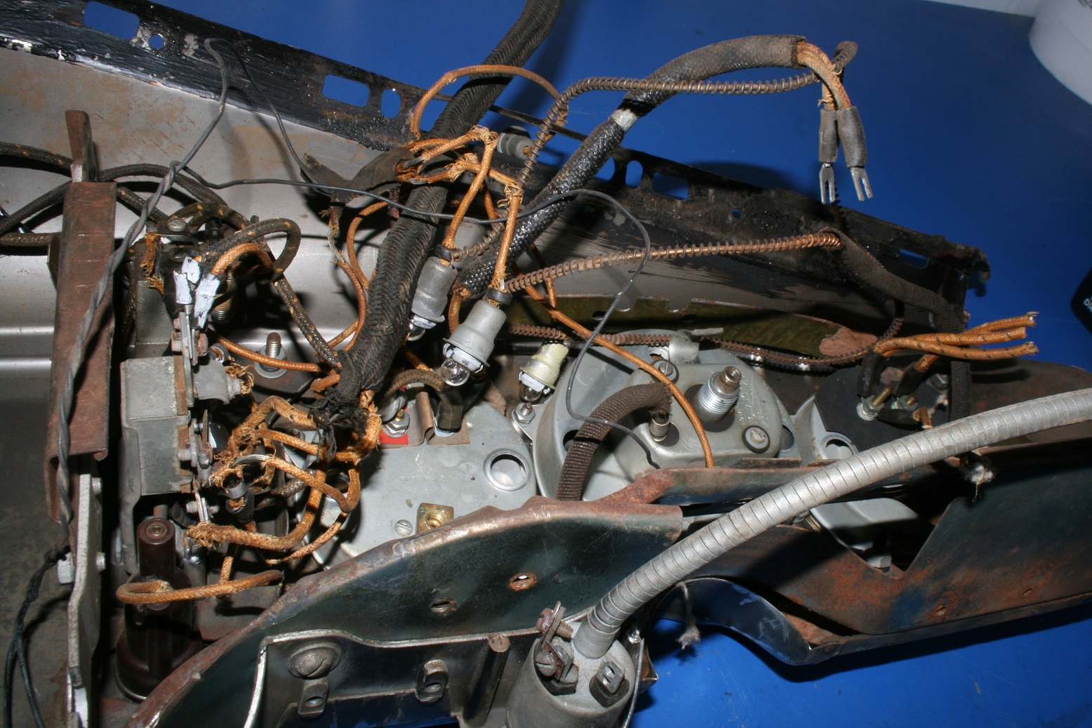 hight resolution of with the rat nest cleaned out the dash wiring is still pretty scary