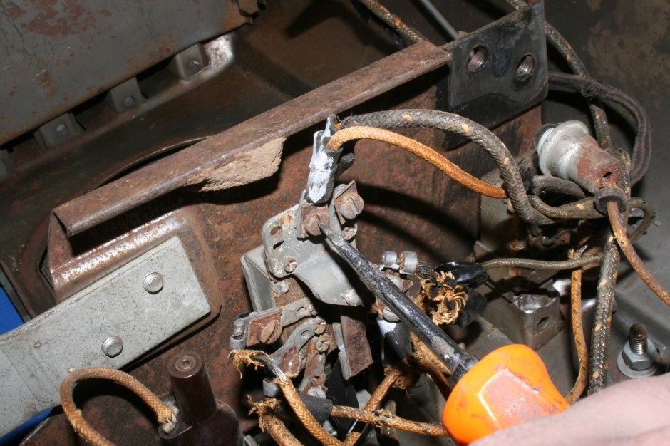 8. The wiring from each switch was removed. If the switches have problems, now is the best time to replace them.