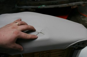 24.The lumbar support, seat back adjuster, and such require a little cutting to install. Make sure you have the position correctly located and slice the cover with a razor. An X works better than trying to remove the entire section.