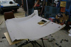 1.The headliner was removed and laid on the workbench. Be careful, the foam is fragile.