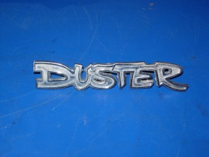 The Duster badge has some sharp curves and twists which represent a unique challenge, especially since the script is so small.