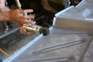 """07.Air tools are really handy for body work. This punch/flange tool from Astra punches a clean 3/8"""" hole in sheet metal up to 16-gauge, which is the perfect size for spot welds."""