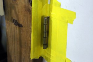 01.Squeaky door hinges are a nuisance. Wet film lubricants wear out, graphite does not. To treat a door hinge, it is a good idea to mask off the perimeter of the hinge.