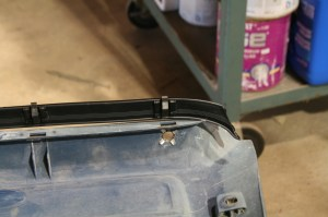 16.The inner window sweep snaps onto the door panel. These clips are little tricky to get started, but not too bad.