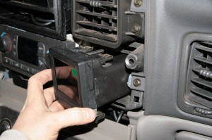 22.The monitor assembly was connected and popped into the dash.