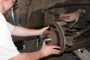 04.Then rotors. We will be reusing these, so they were inspected for cracks and damage, all good.