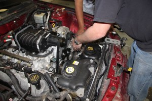 20. Routing the new serpentine belt required two sets of hands and the manual diagram, but it went on easy enough. The kit comes with new stickers to give you a permanent reference.