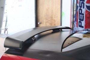 01.We started with the spoiler, since we figured the holes may be an issue, and we were right.