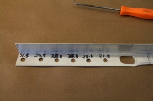 07.We marked out the tool in 2-inch increments so we can measure for tire clearance too.