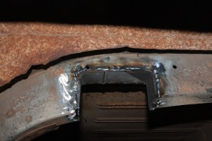 14.The subframe was boxed in using a section of rectangular tubing to regain the loss in strength. This will be sturdier than the original.
