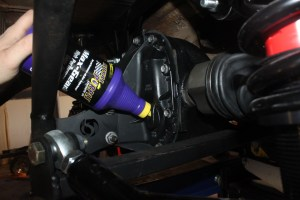28.We filled the center section with Royal Purple Max-Gear gear oil. There is actually plenty of room to put the bottle, surprisingly.