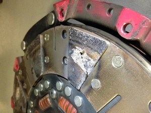 When a clutch goes bad, it can break apart, or it could just be worn down to the rivets. This clutch overheated and broke apart. Photo by Steve Baur