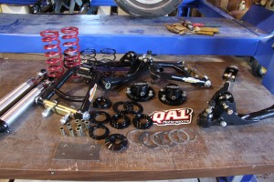 1. Out of the box, the Global West kit consists of just a few parts. Everything, except for the coil over shocks, comes pre-assembled.