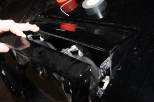 27. With everything wired up, the trim bezels were installed using the new screws provided by Melrose T-Tops.