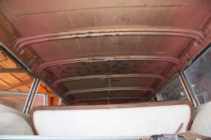 1. The factory fiberboard headliner was crumbling. It actually caused a dangerous situation, when a section came down while driving the car. The vinyl headliners are not quite that bad. The roof is quite large.