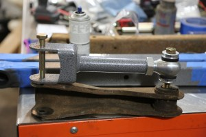 23. To get the upper length starting point, we used bolts to bolt the new upper to the original. This gets you at the factory length, you can adjust from here to set your pinion angle.