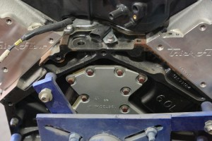 3. Unlike an SBC, there are a bunch of little parts that you might not think of, like the rear cover shown here. We ordered this from Summit as well. Don't forget the bolts.