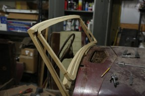 The stock windshield is plain and flat, it has no style, so we set out to build a new one. We kept the original A-pillar height and angle, pulled the bottom of the glass forward 1.5 inches and down, adding 1 inch to the overall height of the glass.